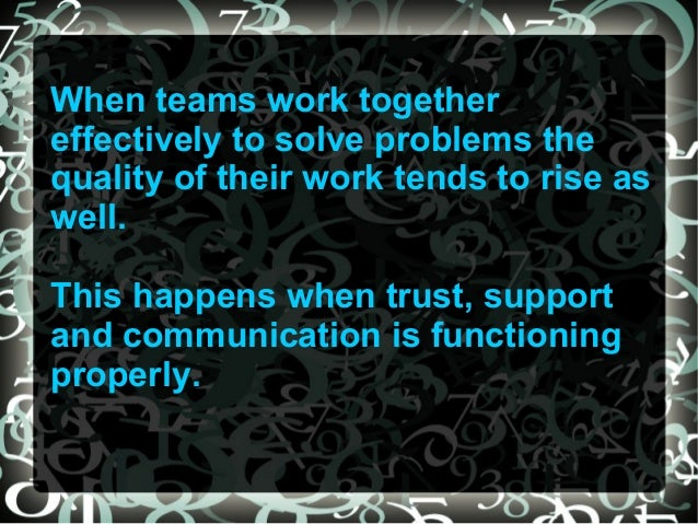 an introduction to the importance of teamwork in the workplace The activities in this section seek to teach participants about the importance of teamwork to workplace success and the specific role each individual on a team may play participants will learn about positive.