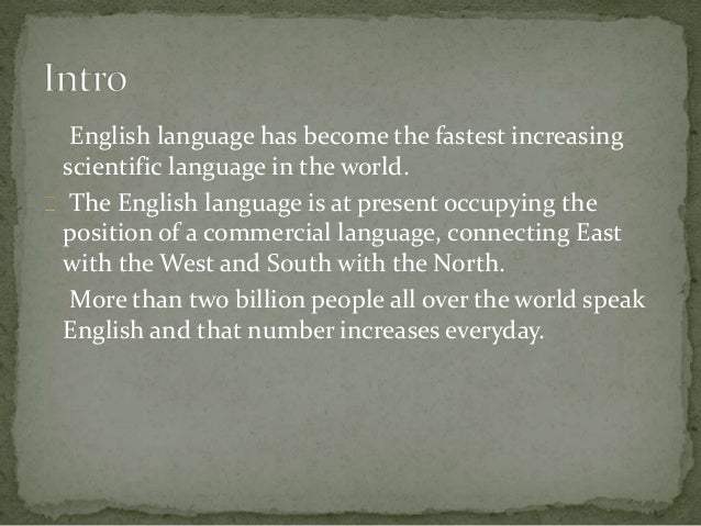 importance of english language in education