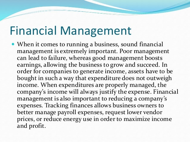 why financial management is important Thus, an important financial management activity is to control financial risk chapter 1: introduction to healthcare financial management 5 the --, or , ,.