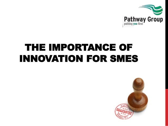 THE IMPORTANCE OF INNOVATION FOR SMES