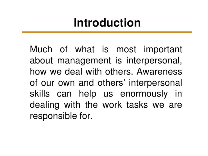 The importance of interpersonal skills 1 Slide 2