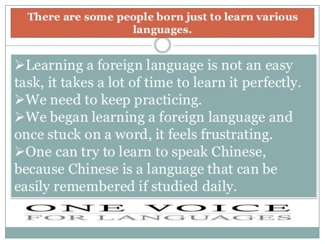 a report on the importance of learning foreign languages 2016-5-19  hmci's commentary: science and foreign languages in  as our report key  in around half the schools inspected in relation to foreign language learning.