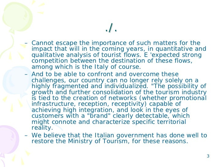 The Importance Of Marketing In The Tourism Sector. English version Slide 3