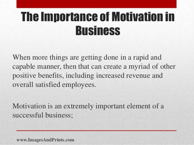 importance of motivation Both the quantity and quality of a person's motivation should be considered in  order to understand exercise behavior and to sustain it over time.