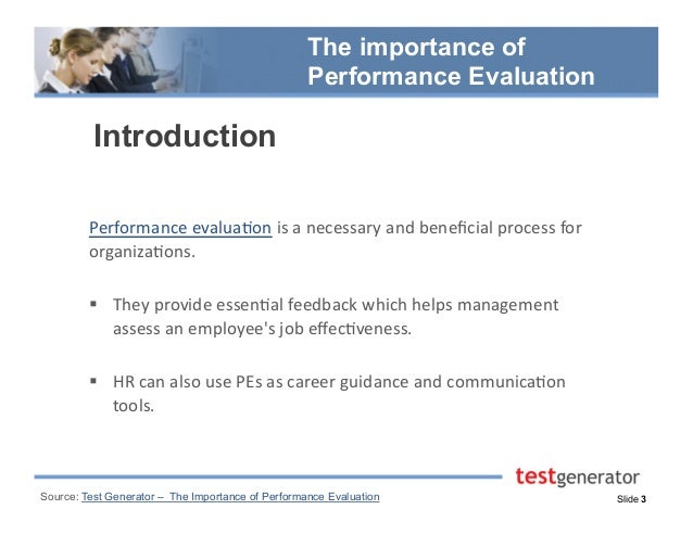 The Importance Of Performance Evaluation