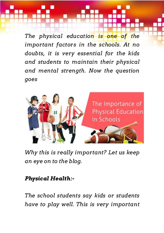 importance of physical education in schools