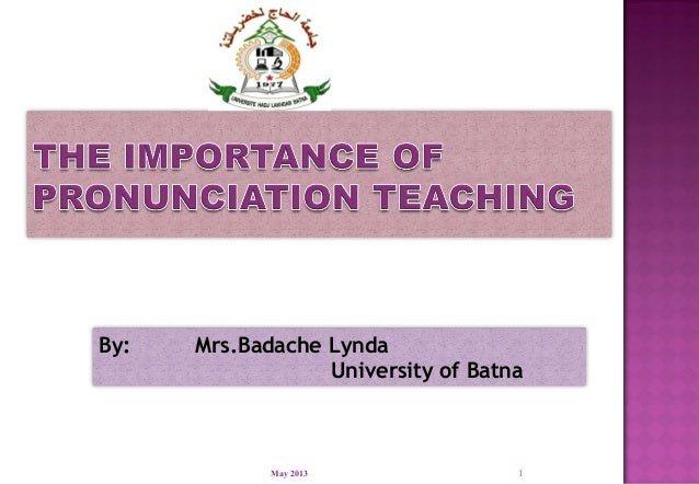 1By: Mrs.Badache LyndaUniversity of BatnaMay 2013
