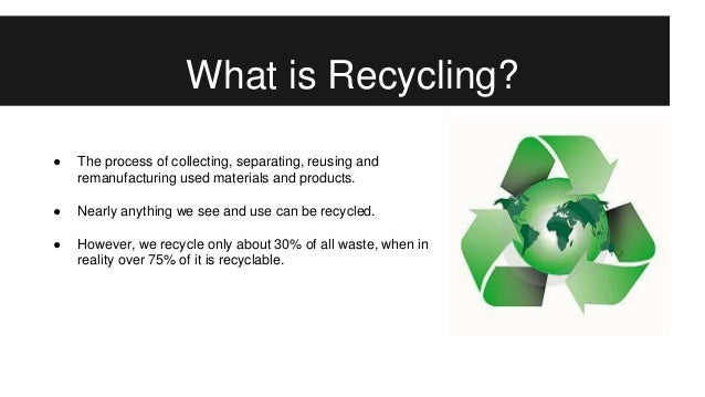 the importance of recycling Recycling, waste management and eco green living at home, schools, offices, and in the community will definitely benefit the environment and everyone to a great extent.