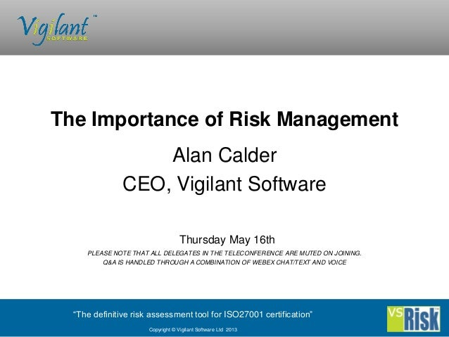 the importance of risk management alcohol