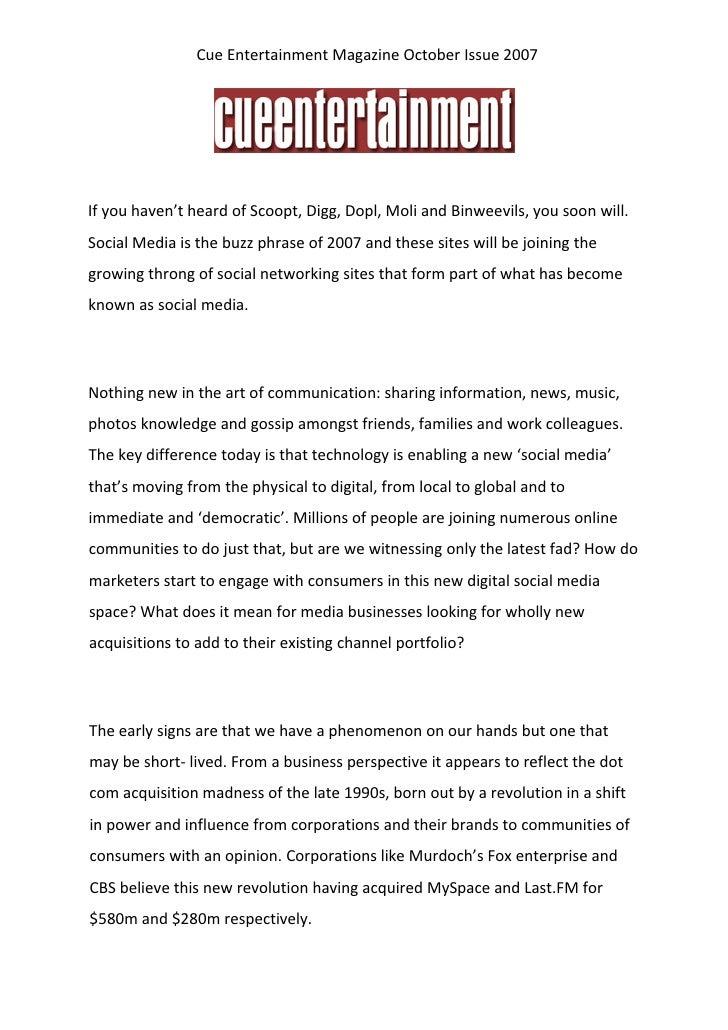 CueEntertainmentMagazineOctoberIssue2007                                                                       If...