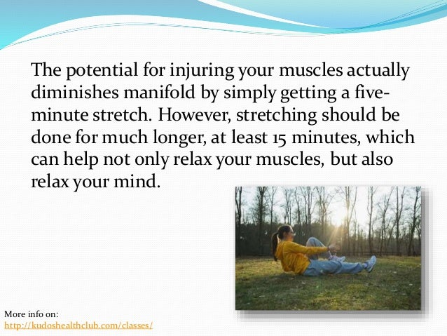 The Importance of Stretching Before Exercising