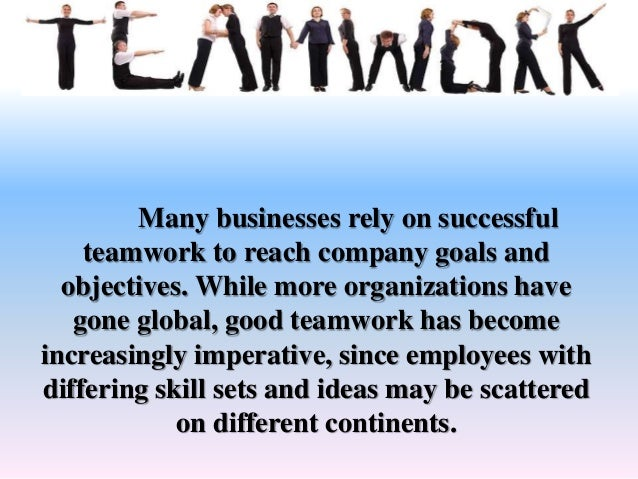 The importance of team work