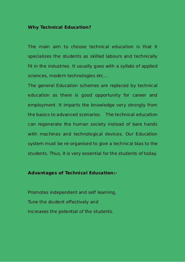 What Is Thesis Statement In Essay  Why Technical Education Essay For Science also Where Is A Thesis Statement In An Essay The Importance Of Technical Education English Literature Essay Topics