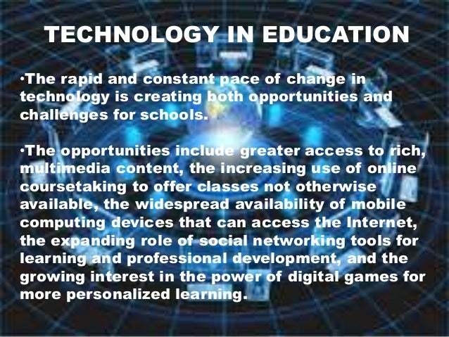 The importance of technology in education