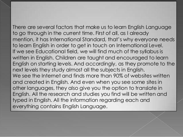 Essay On Importance Of English Language. Importance Of English Essay ...