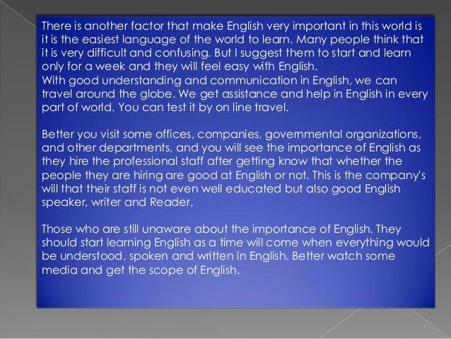 essay on importance of english language