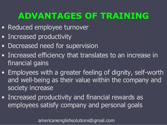 the importance of employee training in business Employees need training and development no matter  paper critically examines the importance of training and development and their importance to an organization's.
