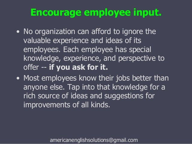 i the importance of employee motivation Other rewards or benefits that motivate people include a fun or comfortable work environment with such perks as a fitness center, on-site child care and cafeteria simple praise drives some high performers, whereas formal awards are better for others offering education and training opportunities to an employee with a.