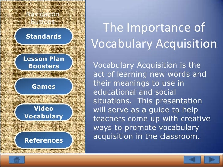 why is teaching vocabulary important