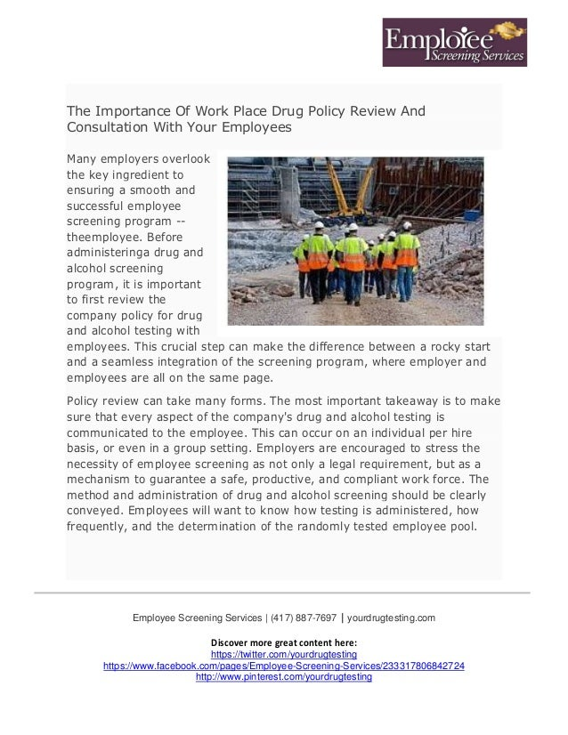 The Economic Value for Employers of Workplace Drug Testing