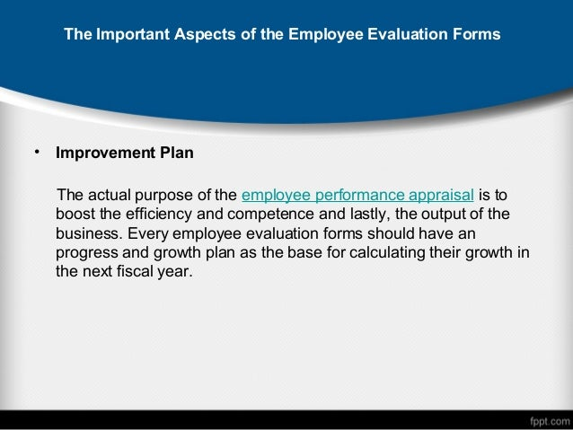 TheImportantAspectsOfTheEmployeeEvaluation FormsJpgCb