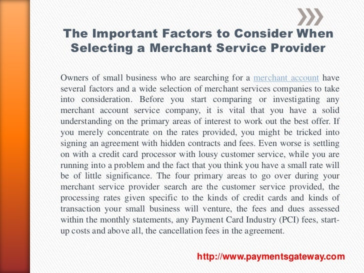 The Important Factors To Consider When Selecting A