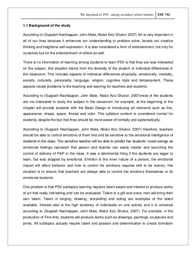 The importance of arts in school essay