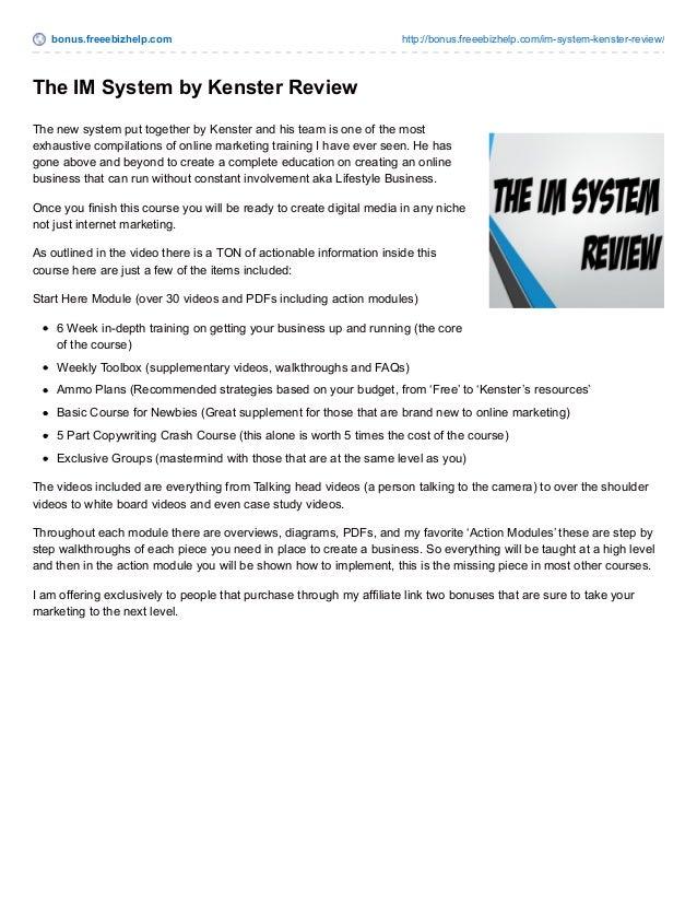 bonus.freeebizhelp.com http://bonus.freeebizhelp.com/im-system-kenster-review/ The IM System by Kenster Review The new sys...