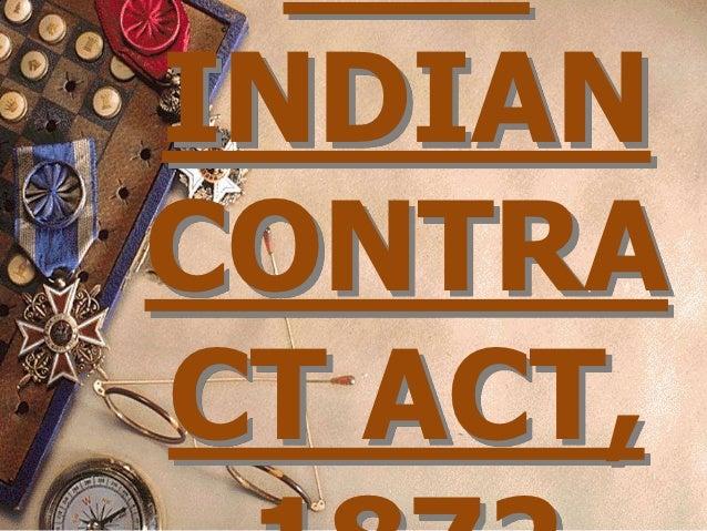 INDIANCONTRACT ACT,