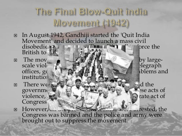 lit quit india by gandhi essay Free essay: gandhi's vision for india near the start of the twentieth century, india  pursuit for national identity concentrates on achieving.