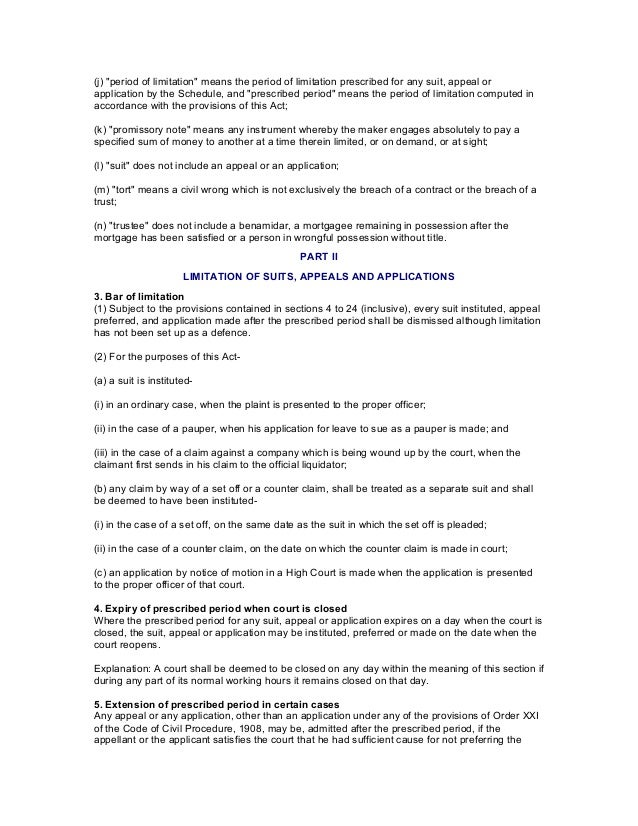 the limitation act 1963 pdf