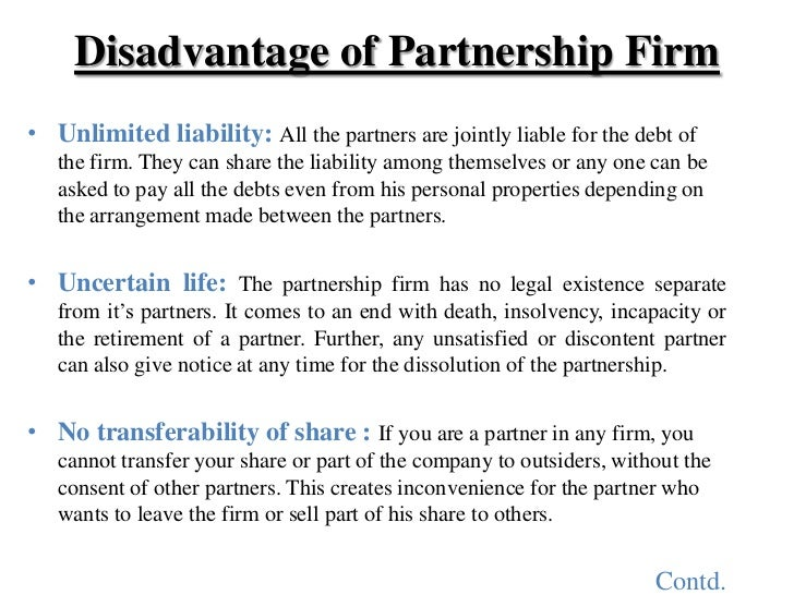 personal management case a business partnership Each general partner takes part in the management of the partnership and is personally liable for obligations of the partnership general partnerships are usually a poor choice of business entity limited partnership protection of entity assets from owner's personal creditors.