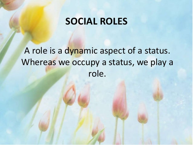 the effects of social roles in individuals Reflects the roles one plays throughout life& the current roles/ role expectations involves relationship with family, friends, work, organizations, etc involves social and context& how it determines the meaning of aging for individuals.