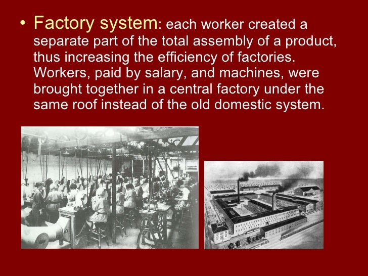 essay about the factory system