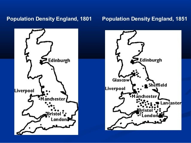 Urbanization Map During The Industrial Revolution The Industrial Revolut...