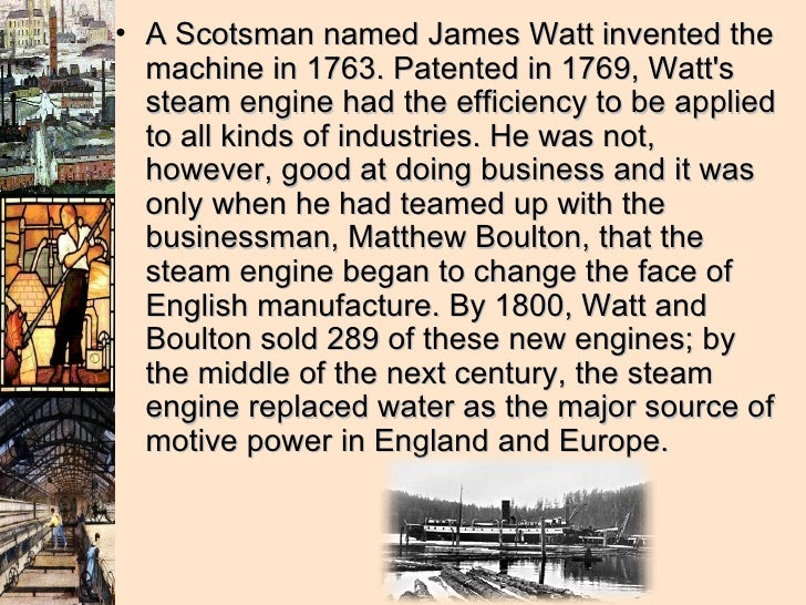 james watt visionary of the industrial James watt's aptitude for maths and science spearheaded the industrial  revolution this visionary's birth anniversary falls on january 19.