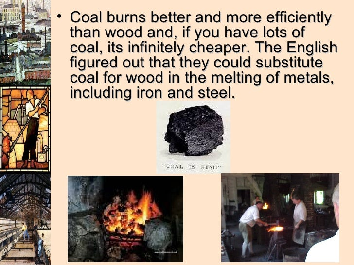 <ul><li>Coal burns better and more efficiently than wood and, if you have lots of coal, its infinitely cheaper. The Englis...