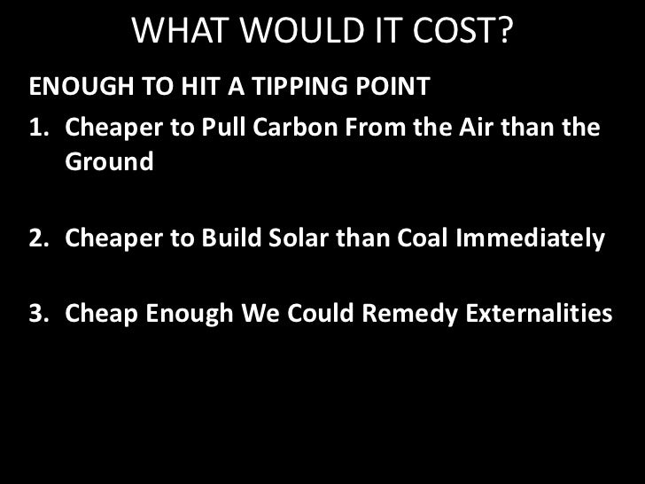 A CARBON TAX<br />Creates Incentives for:<br />Conservation & Efficiency<br />Alternative Energy Use and R&D<br />Sequestr...