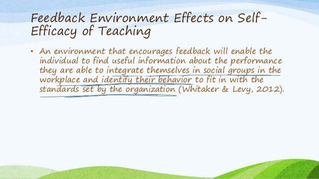 the influence of teacher self efficacy on The influence of teachers' efficacy beliefs on student achievement is well documented in educational literature efficacy beliefs are derived from sources of information teachers obtain from professional experiences this article provides student support services personnel with an overview of .