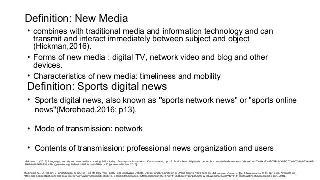 the emergence of new media such Chapter 15 media, technology, and  in the past few years as a way to adapt to new digital media and devices such as e-readers, but they have also had to develop.