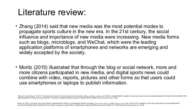 the influence of the new media This, as a result, increases the significance of new media in intercultural  communication this study is to examine the influence of social media usage in  the.