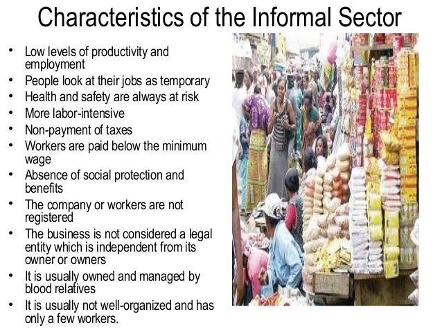 the informal economy This paper investigates the determinants of informal economic activity we  present two equilibrium models of informality and test their implications using a  survey.