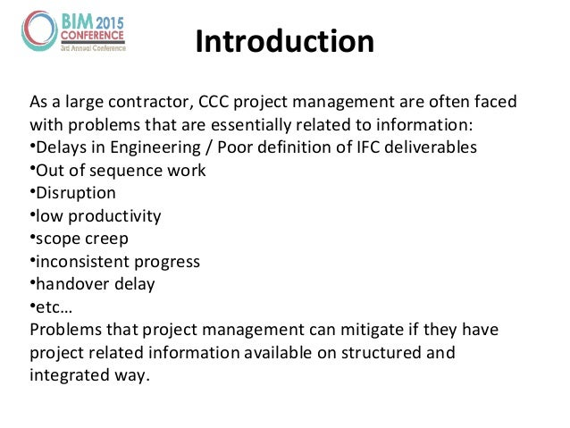 Introduction As a large contractor, CCC project management are often faced with problems that are essentially related to i...