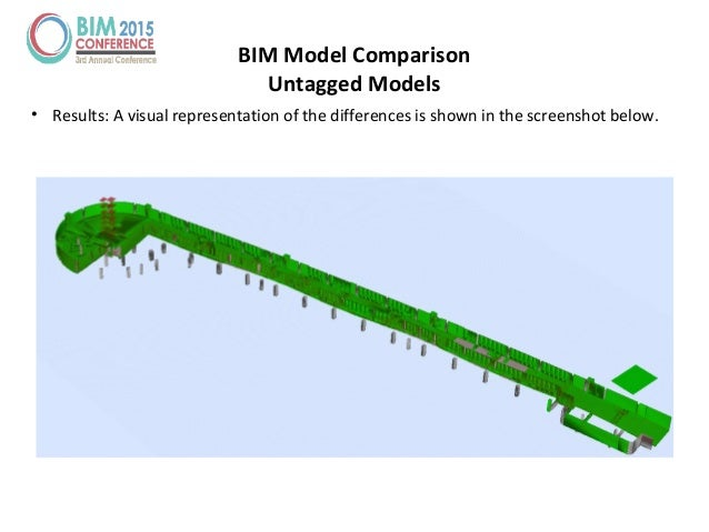 • Results: A visual representation of the differences is shown in the screenshot below. BIM Model Comparison Untagged Mode...