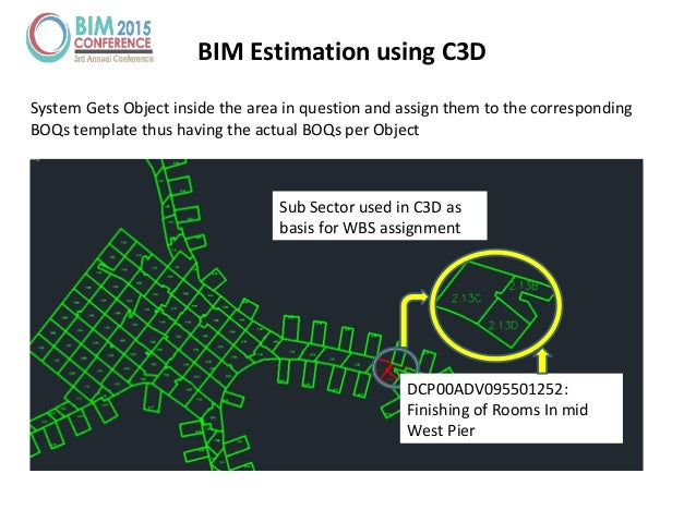 BIM Estimation using C3D System Gets Object inside the area in question and assign them to the corresponding BOQs template...