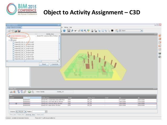Object to Activity Assignment – C3D
