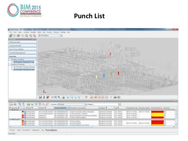 The information challenge managing construction with bim for Construction punchlist