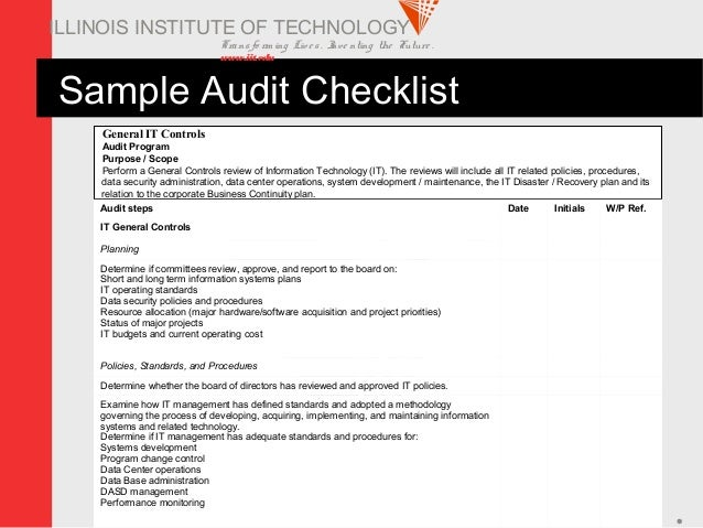 The information security audit for Information security standards template