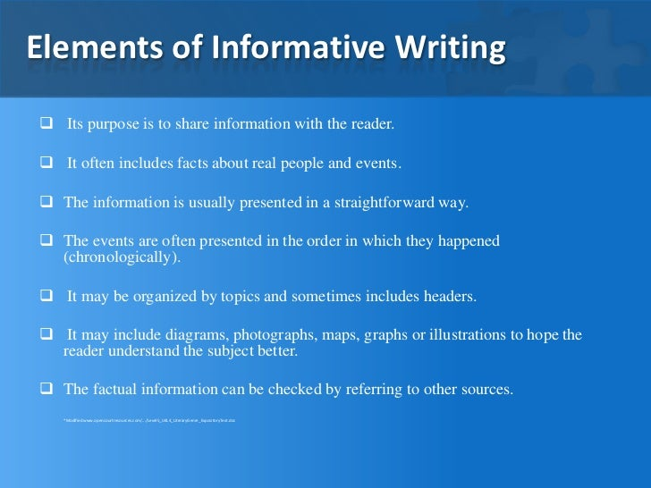 The Informative Essay – Informative Essay