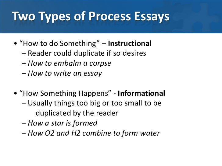 example of process essay